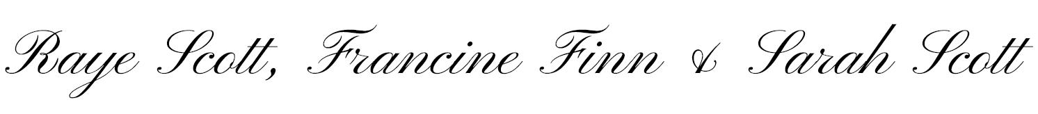 Raye Scott, Francine Finn & Sarah Scott