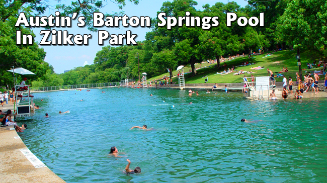 Austin's Barton Springs Pool In Zilker Park