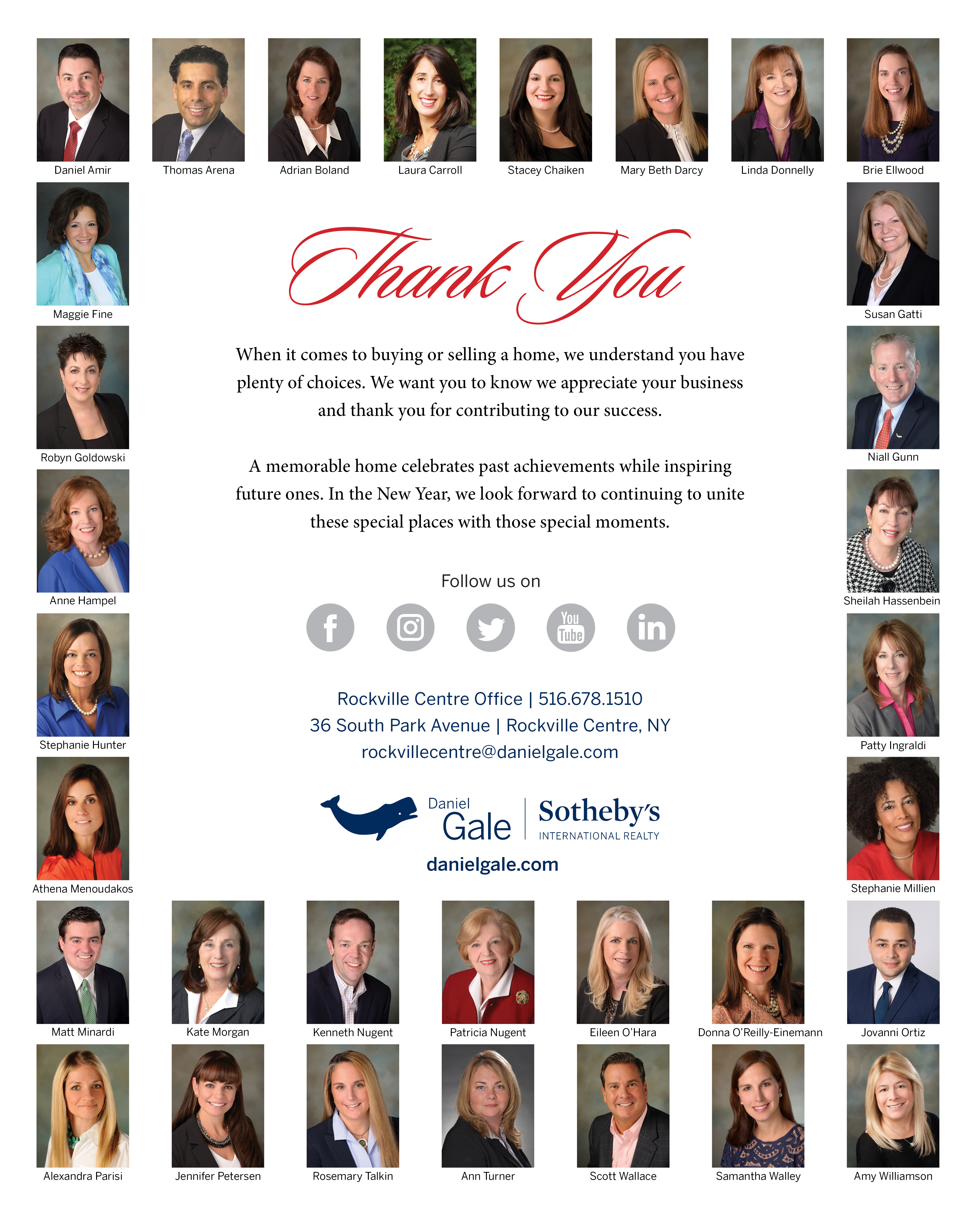 Daniel Gale Sothebyu0027s International Realty Gold Circle Of Excellence Garden  City And Rockville Centre Offices